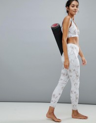 Varley Floral Print Biona Leggings - White