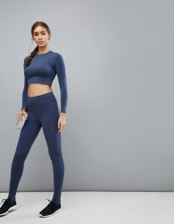 Varley Gaines Legging In Navy - Blue