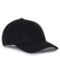 Varsity Cashmere Baseball Cap Charcoal men L Grå