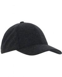 Varsity Cashmere Baseball Cap Dark Grey Melange men M