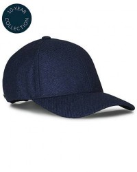 Varsity Loro Piana Cashmere Baseball Cap Navy men S Blå