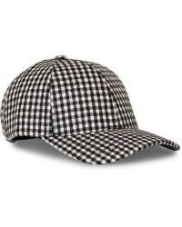 Varsity Merino Wool Check Baseball Cap White/Brown men M Brun