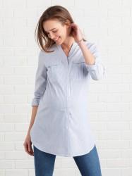 Venteskjorte af vævet bomuldskvalitet
