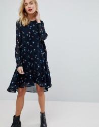 Vero Moda Ditsy Printed Midi Dress - Navy