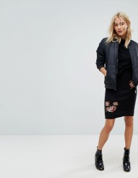 Vero Moda Floral Printed Skirt - Black