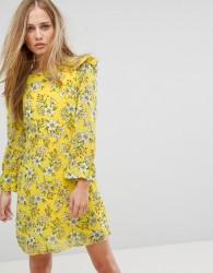 Vero Moda Floral Shift Dress - Yellow