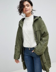 Vero Moda Hooded Rain Jacket - Green