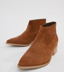 Vero Moda Leather Boot - Tan