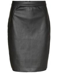 Vero Moda Ninea HW PU ABK Skirt Black (SORT, S)