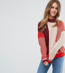 Vero Moda Petite Colour Block Jumper - Pink