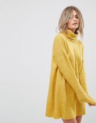 Vero Moda Roll Neck Jumper Dress - Gold