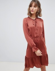 Vero Moda Smock Midi Dress - Red