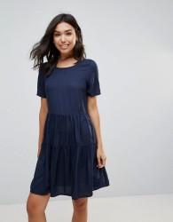 Vero Moda Tiered Smock Dress - Navy
