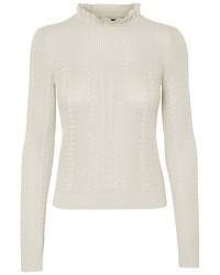 Vero Moda viola ls knit blouse (HVID, XL)