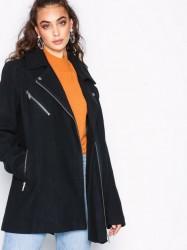 Vero Moda Vmbiker Class 3/4 Wool Jacket Boos Frakker Sort