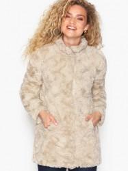 Vero Moda Vmcurl High Neck Faux Fur Jacket No Faux fur Lysegrå