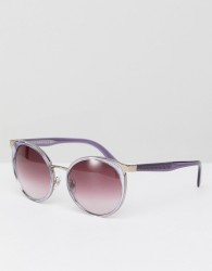 Versace 0VE2185 Round Sunglasses In Pink 54mm - Pink