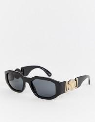 Versace 0VE4361 hexagonal sunglasses - Black