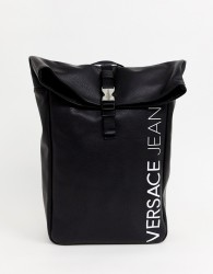 Versace Jeans backpack with logo print - Black
