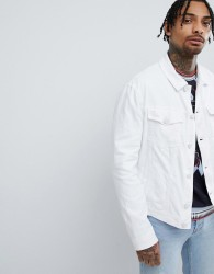 Versace Jeans Denim Jacket In White - White