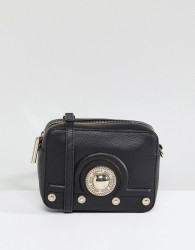 Versace Jeans Embossed Camera Bag - Black