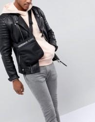 Versace Jeans flight bag in black with logo - Black