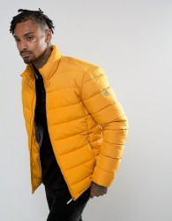 Versace Jeans Puffer Jacket In Yellow - Yellow