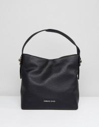 Versace Jeans Shoulder Bag with Gold Studding - Black
