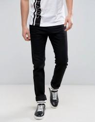 Versace Jeans Slim Fit Jeans In Black With Logo In Slim Fit - Black