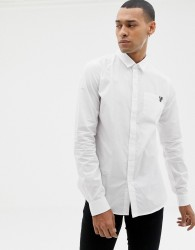 Versace Jeans slim shirt with chest logo - White