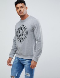 Versace Jeans Sweatshirt In Grey With Large Logo - Grey