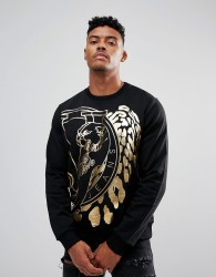 Versace Jeans T-Shirt In Black With Tiger Print - Black