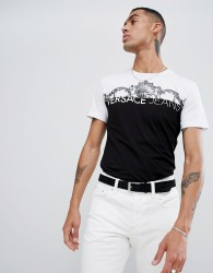 Versace Jeans t-shirt with baroque logo print - White
