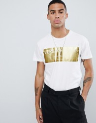 Versace Jeans t-shirt with gold logo print - White
