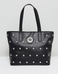 Versace Jeans Tote with Circular Studs - Black