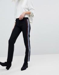 Versace Jeans Tuxedo Trouser with Logo - Black