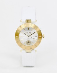 Versus Versace Logo SP7721 0018 leather watch in white - White