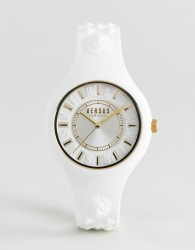Versus Versace SOQ04 Fire Island Silicone Watch In White - White