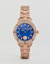 Versus Versace South Horizons S2905 Crystal Bracelet Watch In Rose Gold 33mm - Gold