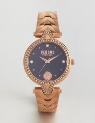 Versus Versace SPCI38 V Crystal Bracelet Watch In Rose Gold - Gold