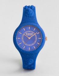 Versus Versace SPOQ19 Fire Island Glitter Silicone Watch In Blue - Blue