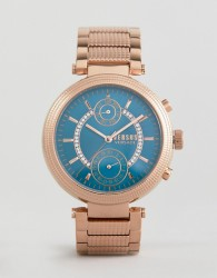 Versus Versace Star Ferry S7908 Bracelet Watch In Rose Gold - Gold