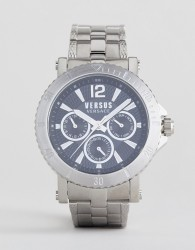Versus Versace Steenberg VSP520418 Chronograph Bracelet Watch In Silver 45mm - Silver