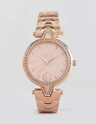 Versus Versace V Crystal VSPCI3717 Bracelet Watch In Rose Gold 34mm - Gold