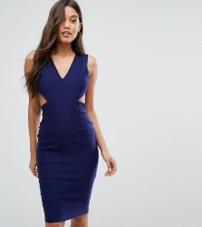 Vesper Cut Out Midi Dress with Open Back - Navy