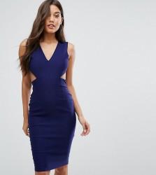 Vesper Cut Out Midi Dress with Open Back - Navy