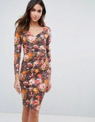 Vesper Long Sleeve Floral Dress - Orange