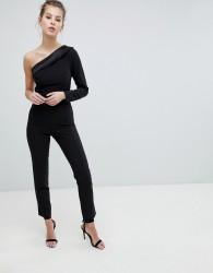 Vesper One Shoulder Jumpsuit - Black