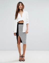 Vesper Pencil Skirt In Checked Print - Multi