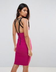 Vesper Strappy Back Midi Dress - Purple